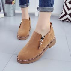 Femmes Talon plat Chaussures plates avec Zip chaussures