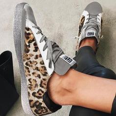 Donna PU Casuale All'aperto con Animale Stampa Allacciato scarpe