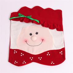 καλά Χριστούγεννα Χιονάνθρωπος Σάντα Πανί Κάλυψη καρέκλας