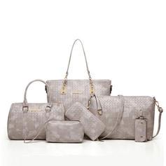 Benzersiz/Moda Bez Çantalar/Omuz çantaları/Boston Çantaları/Çanta Setleri/Cüzdanlar ve Bileklikler