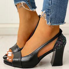 Naisten PU Chunky heel Peep toe jossa Muut kengät