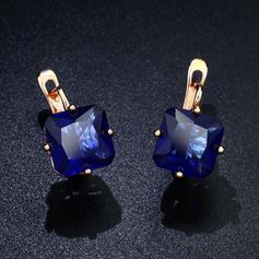 Shining Alloy With Imitation Crystal Women's Fashion Earrings