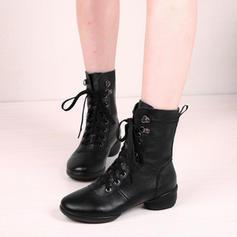 Женский Современный кроссовки бальный кроссовки Настоящая кожа Современный