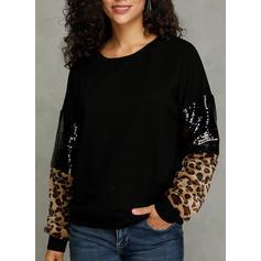 Polyester Dierenprint Sweatshirts