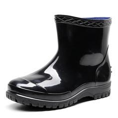 Men's Rubber Low Heel Rain Boots shoes