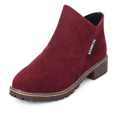 Women's PU Low Heel Ankle Boots With Zipper shoes