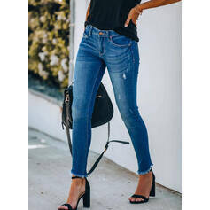 Plus Size Tassel Long Elegant Sexy Denim & Jeans