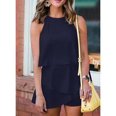 Solid Sleeveless Casual/Elegant Dresses