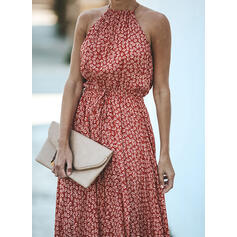 Print Sleeveless A-line Party Maxi Dresses