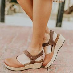 Femmes Similicuir Talon compensé Escarpins Compensée avec Dentelle chaussures