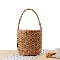Braided Straw Beach Bags/Bucket Bags
