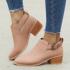 Femmes PU Talon bottier Escarpins Bottes Bottines avec Boucle chaussures