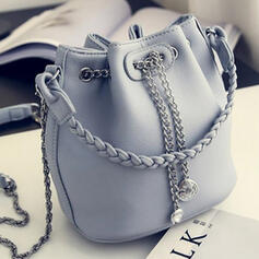 Elegant/Fashionable/Vintga/Solid Color Shoulder Bags/Bucket Bags