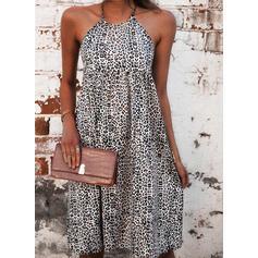 Impresión/Leopardo Sin mangas Tendencia Sobre la Rodilla Casual Vestidos
