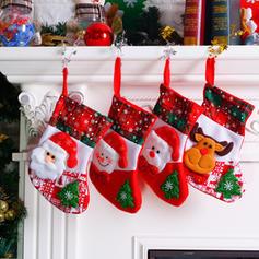 joyeux Noël Bonhomme de neige Renne Père Noël Pendaison Sac cadeau Tissu Décor de Noël Bas