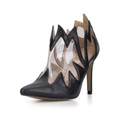 Femmes Similicuir PVC Talon stiletto Escarpins Bout fermé Bottes Bottines chaussures