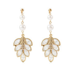 Chic Alloy Rhinestones Imitation Pearls Women's Fashion Earrings