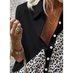 leopardi Käänne Pitkähihaiset Rento Paitapuserot