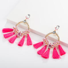 Charming Hottest Cloth Alloy With Tassels Earrings