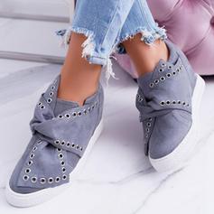 Femmes Suède Talon plat Chaussures plates avec Ouvertes chaussures