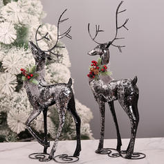 Christmas Reindeer Ornaments Iron Holiday Decoration