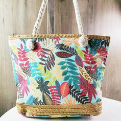 Charme/Colorido/Estilo boêmio/Floral/Trançado Bolsas de lona/Sacos de praia/Hobo Malas/Saco de armazenamento