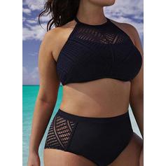 Tinta unita A bikini Elegante Taglia grossa Bikinis Costumi Da Bagno