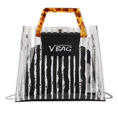 Transparent/Stripe PVC/PU Tote Bags/Shoulder Bags