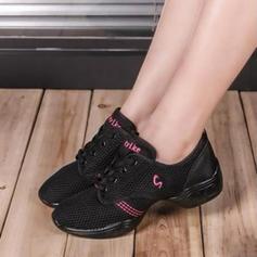 De mujer Zapatillas Zapatillas Tejido con Cordones Zapatillas