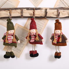 Merry Christmas Hanging Cloth Tree Hanging Ornaments Doll