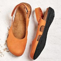 Kvinder PU Flad Hæl Fladsko med Velcro sko