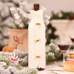 Merry Christmas Knit Christmas Décor Bottle Cover