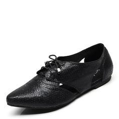 Femmes PU Talon plat Chaussures plates chaussures