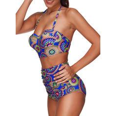 Sexy Colorful Armature Dos nu Bikinis Maillot de bain