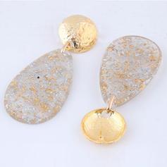 Stylish Alloy Resin Women's Fashion Earrings (Set of 2)