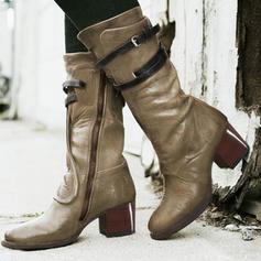 Bayanlar PU Tıknaz Topuk bot ayakkabı Ile Fermuar Bağcıklı ayakkabı ayakkabı