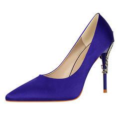 Donna Raso Tacco a spillo Stiletto Punta chiusa con Tacchi ingioiellati scarpe