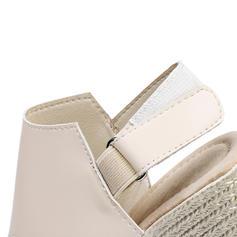 Donna PU Zeppe Sandalo Zeppe Punta aperta Con cinturino con Velcro scarpe