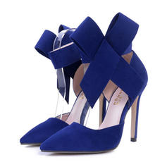 Women's PU Stiletto Heel Pumps With Bowknot shoes