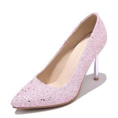 De mujer Brillo Chispeante Tacón stilettos Salón Cerrados con Lentejuelas zapatos