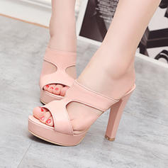 Women's Leatherette Chunky Heel Pumps Platform With Others shoes