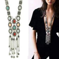 fasjonable Legering med Perle Kvinner Fashion Kjede