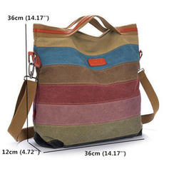Alla moda/Splice Colour Tela Borse di tela/Borse a tracolla/Hobo Bags