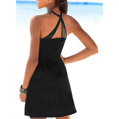 Animal Print Sleeveless Sheath Above Knee Casual/Vacation Tank Dresses