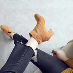 Femmes Suède Talon bottier Escarpins Bottes Bottines avec Rivet chaussures