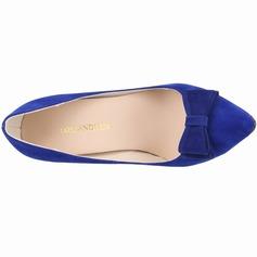 Vrouwen Suede Stiletto Heel Pumps Closed Toe met strik schoenen