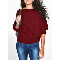 Egyszínű Csónak nyak πουλόβερ