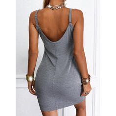 Impresión Sin mangas Cubierta Sobre la Rodilla Casual Camisón Vestidos
