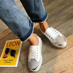 Femmes Cuir verni Décontractée De plein air avec Strass Pailletes scintillantes Élastique chaussures