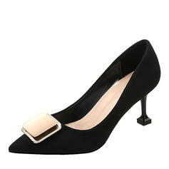 Women's Suede Stiletto Heel Pumps With Buckle shoes